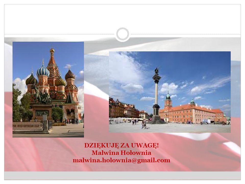 DZIĘKUJĘ ZA UWAGĘ! Malwina Hołownia malwina.holownia@gmail.com