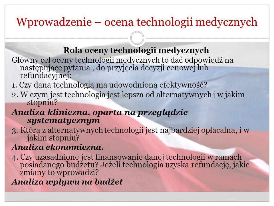 Wprowadzenie – ocena technologii medycznych