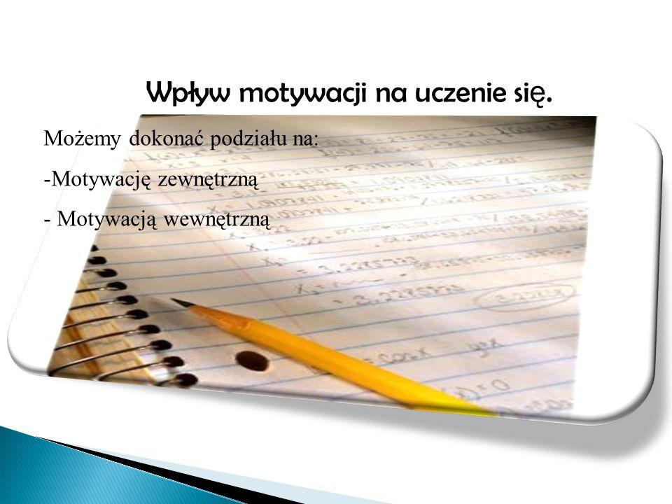 Wpływ motywacji na uczenie się.