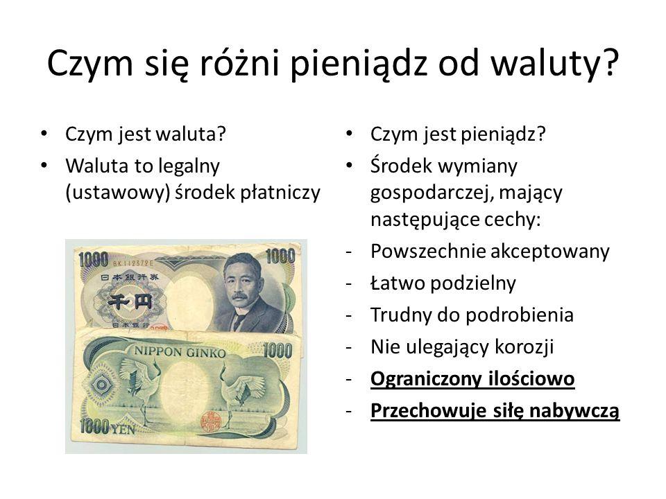 Czym się różni pieniądz od waluty