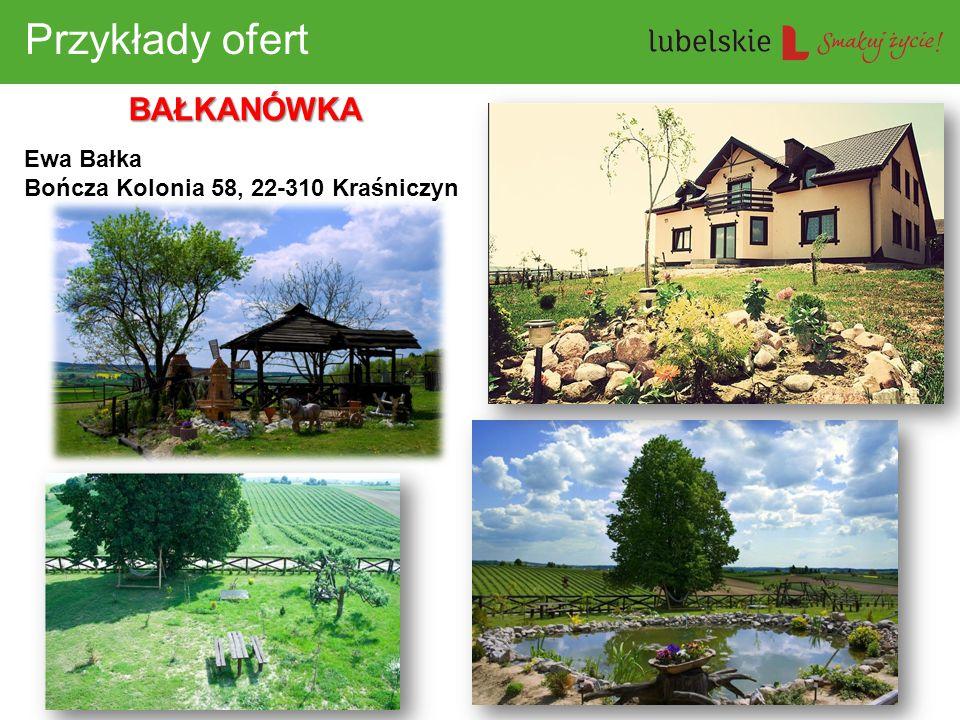 Przykłady ofert BAŁKANÓWKA Ewa Bałka