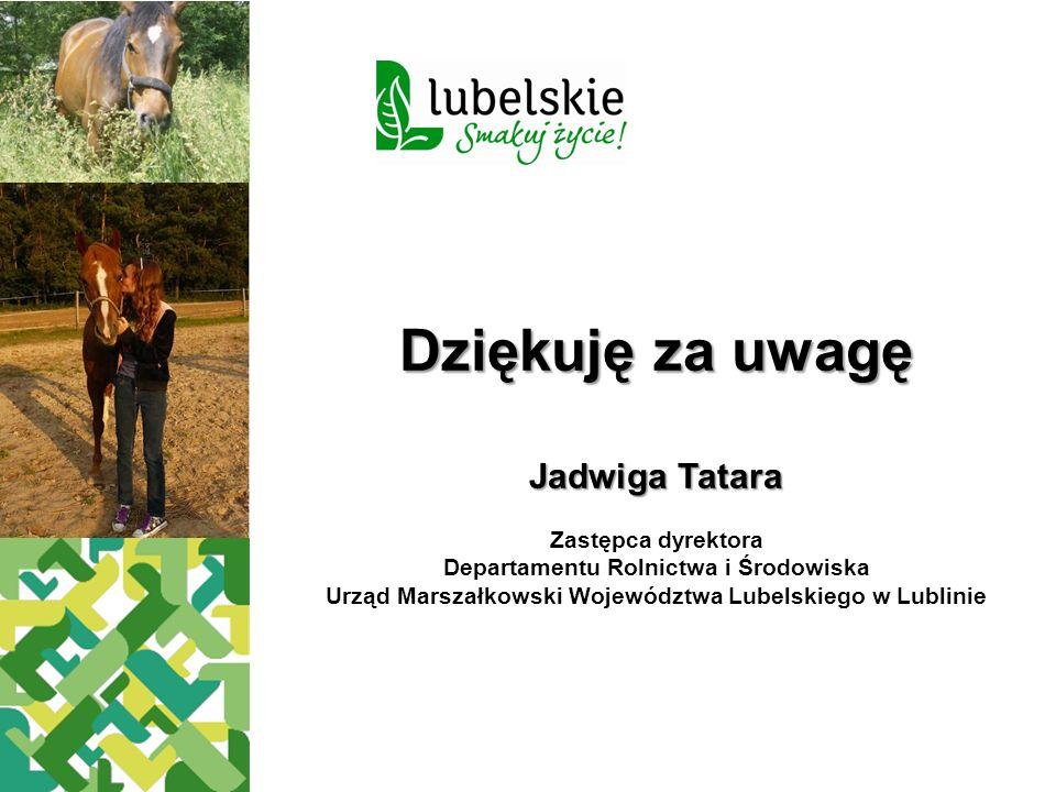 Dziękuję za uwagę Jadwiga Tatara Zastępca dyrektora