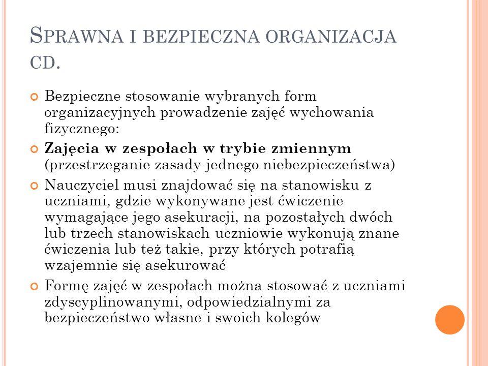 Sprawna i bezpieczna organizacja cd.