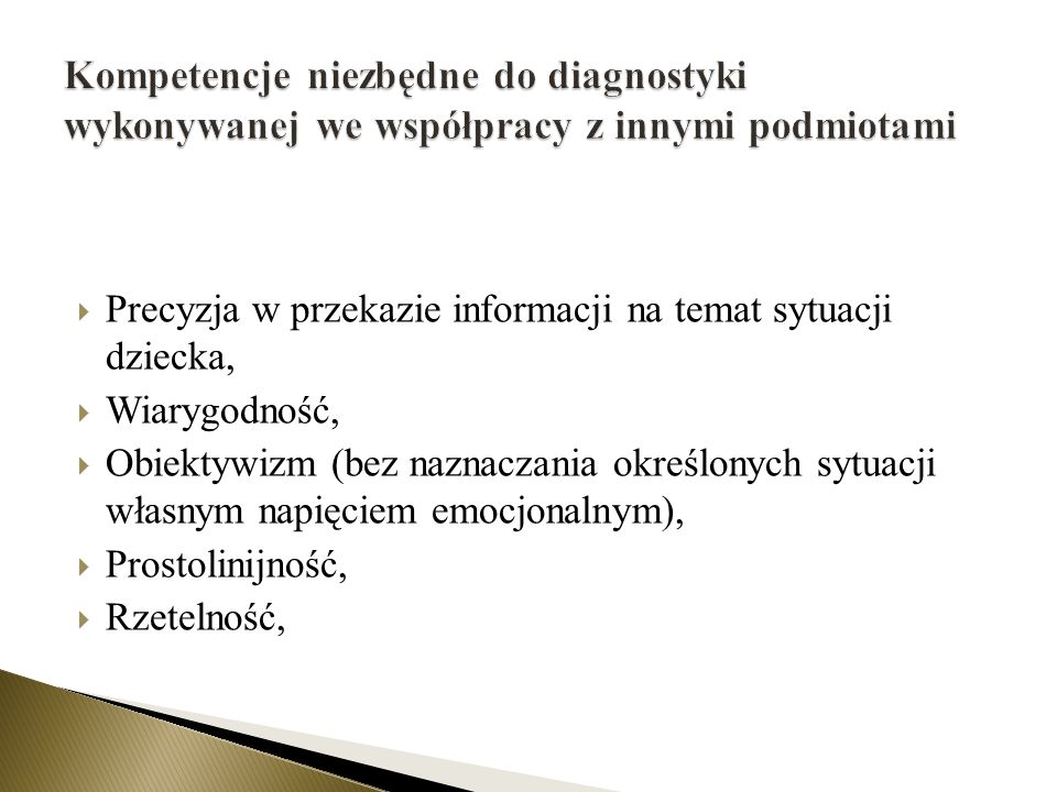 Kompetencje niezbędne do diagnostyki wykonywanej we współpracy z innymi podmiotami
