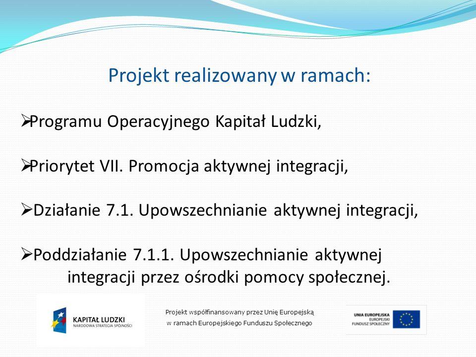 Projekt realizowany w ramach: