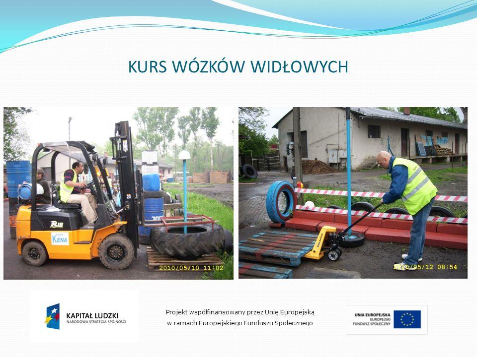 KURS WÓZKÓW WIDŁOWYCH Projekt współfinansowany przez Unię Europejską