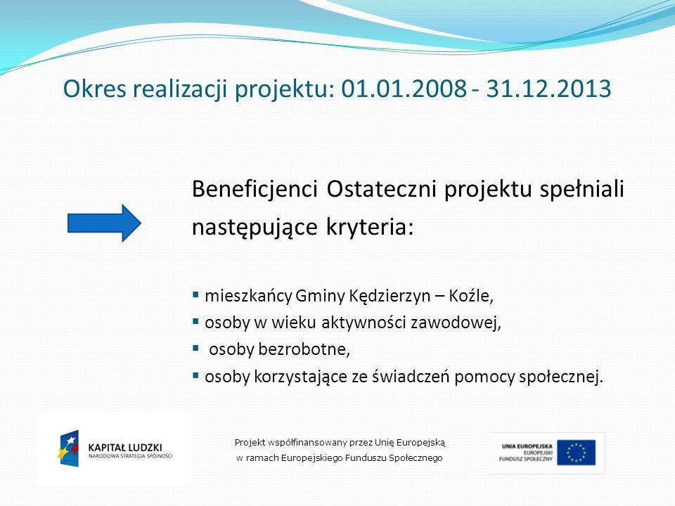 Okres realizacji projektu: 01.01.2008 - 31.12.2013