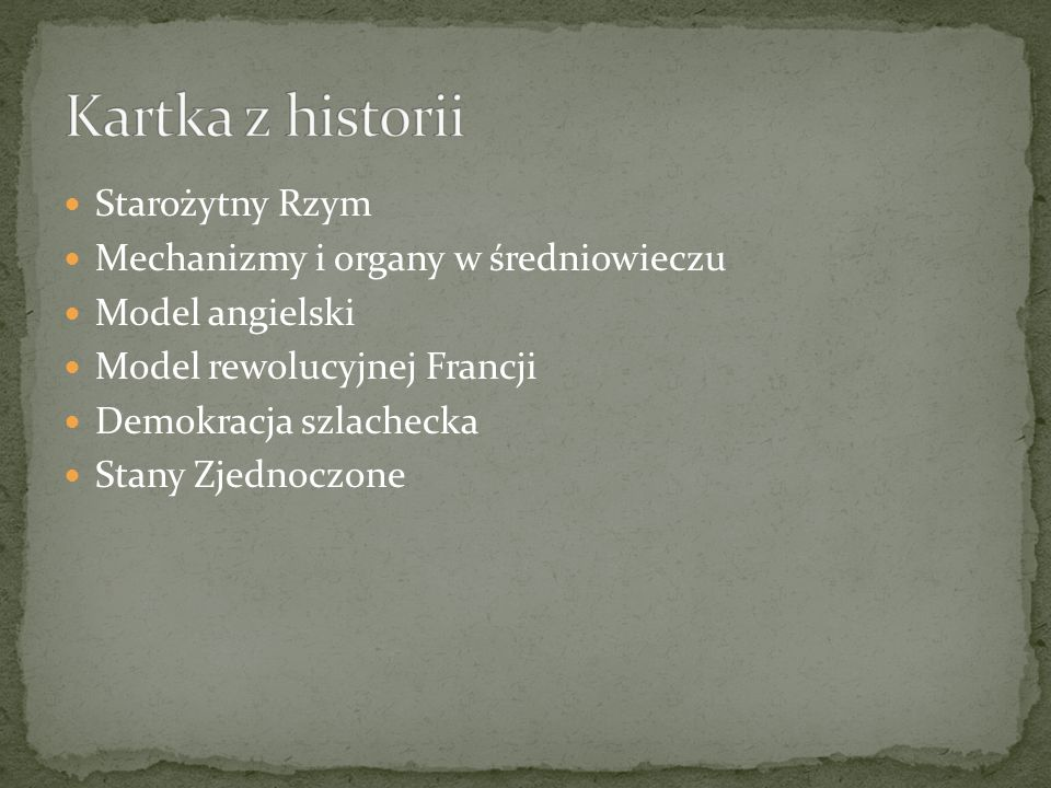 Kartka z historii Starożytny Rzym Mechanizmy i organy w średniowieczu