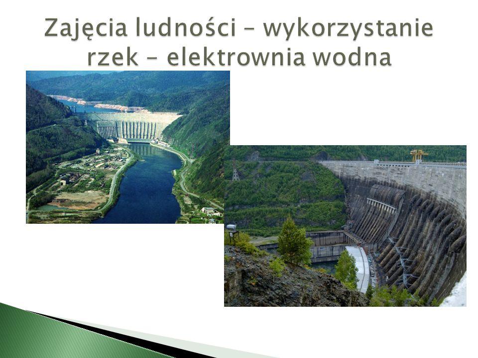 Zajęcia ludności – wykorzystanie rzek – elektrownia wodna