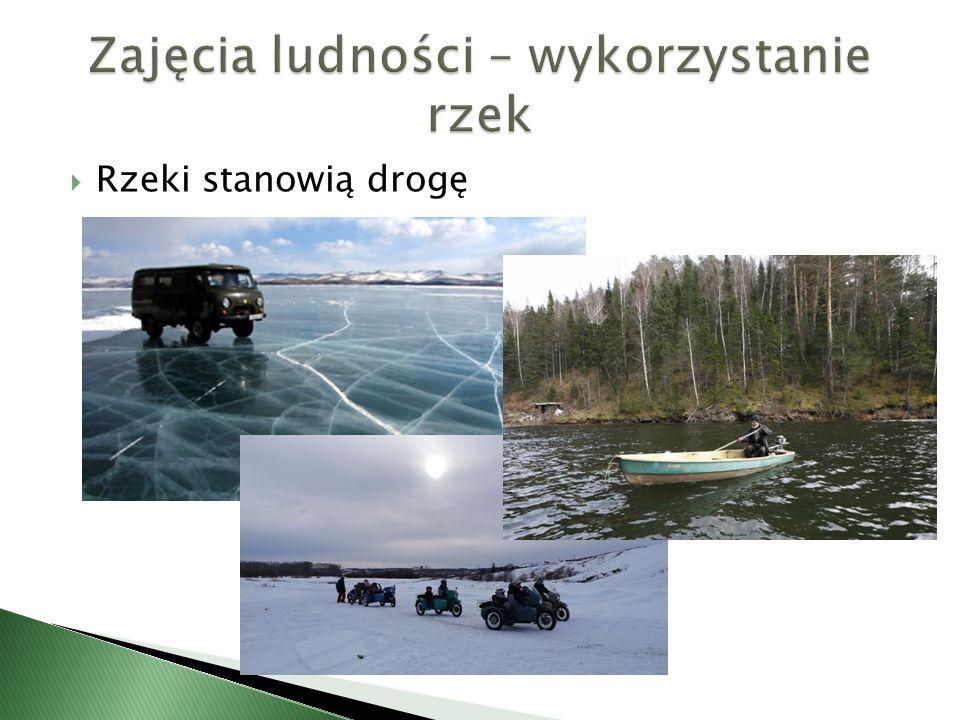 Zajęcia ludności – wykorzystanie rzek