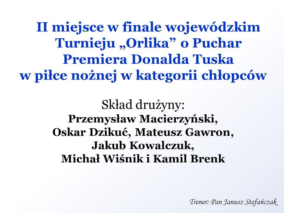 Oskar Dzikuć, Mateusz Gawron, Michał Wiśnik i Kamil Brenk