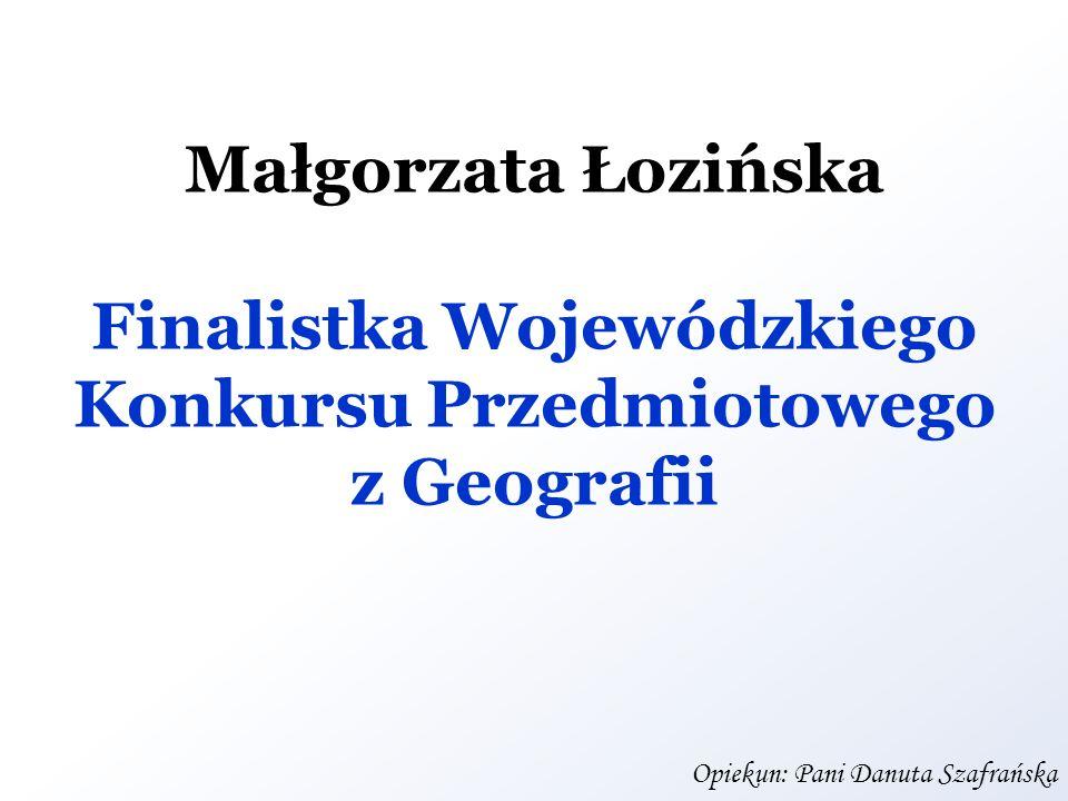 Finalistka Wojewódzkiego Konkursu Przedmiotowego