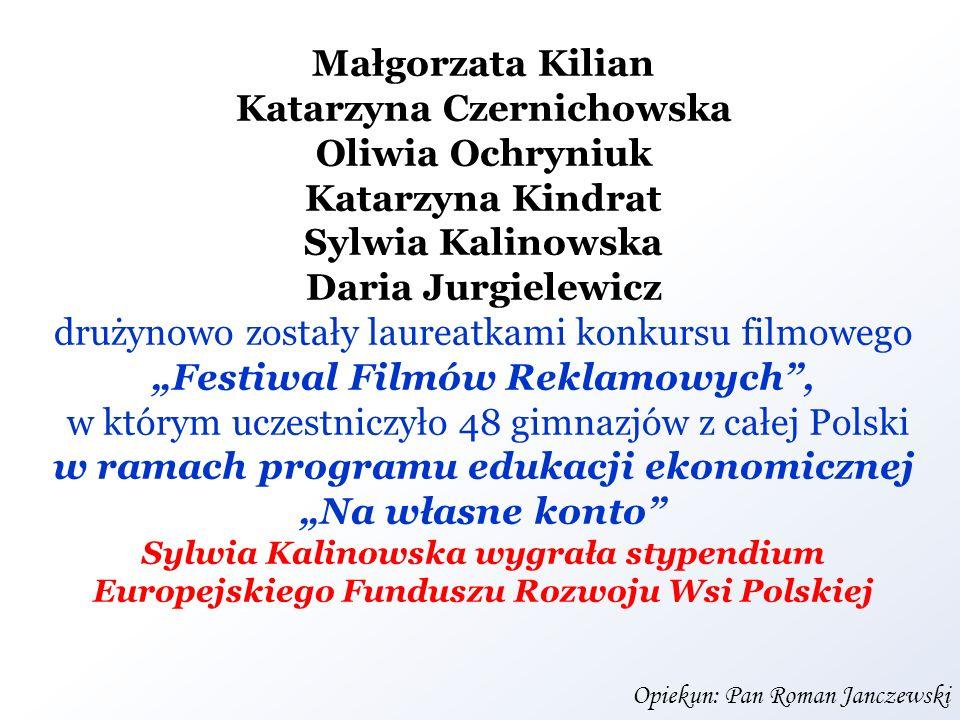 Katarzyna Czernichowska w ramach programu edukacji ekonomicznej