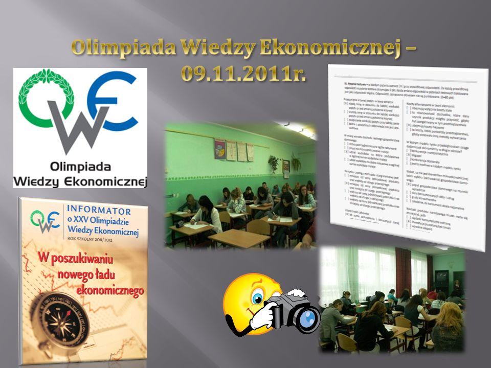 Olimpiada Wiedzy Ekonomicznej – 09.11.2011r.