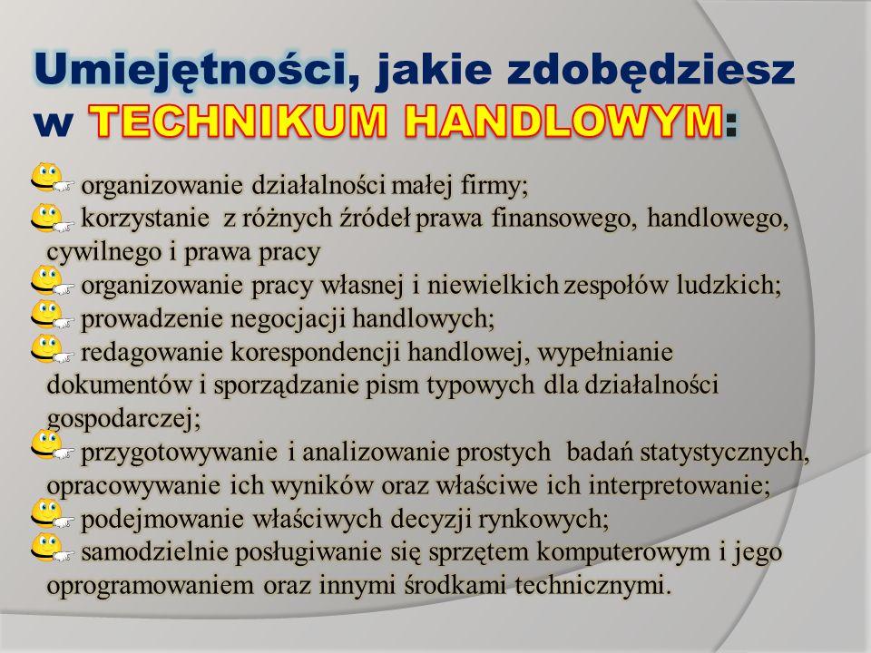Umiejętności, jakie zdobędziesz w TECHNIKUM HANDLOWYM: