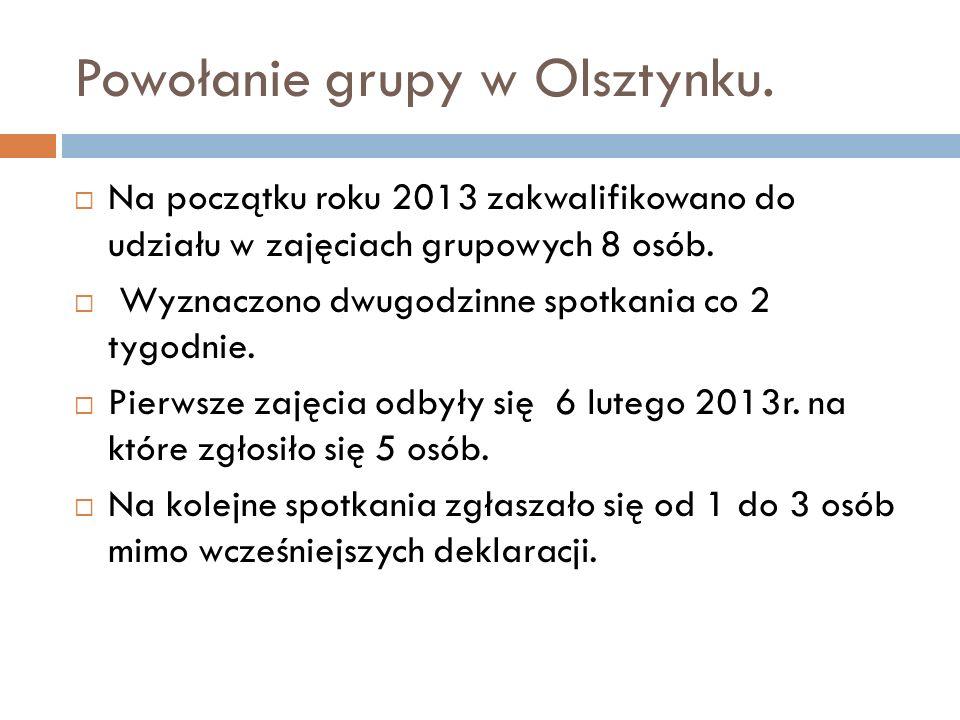 Powołanie grupy w Olsztynku.