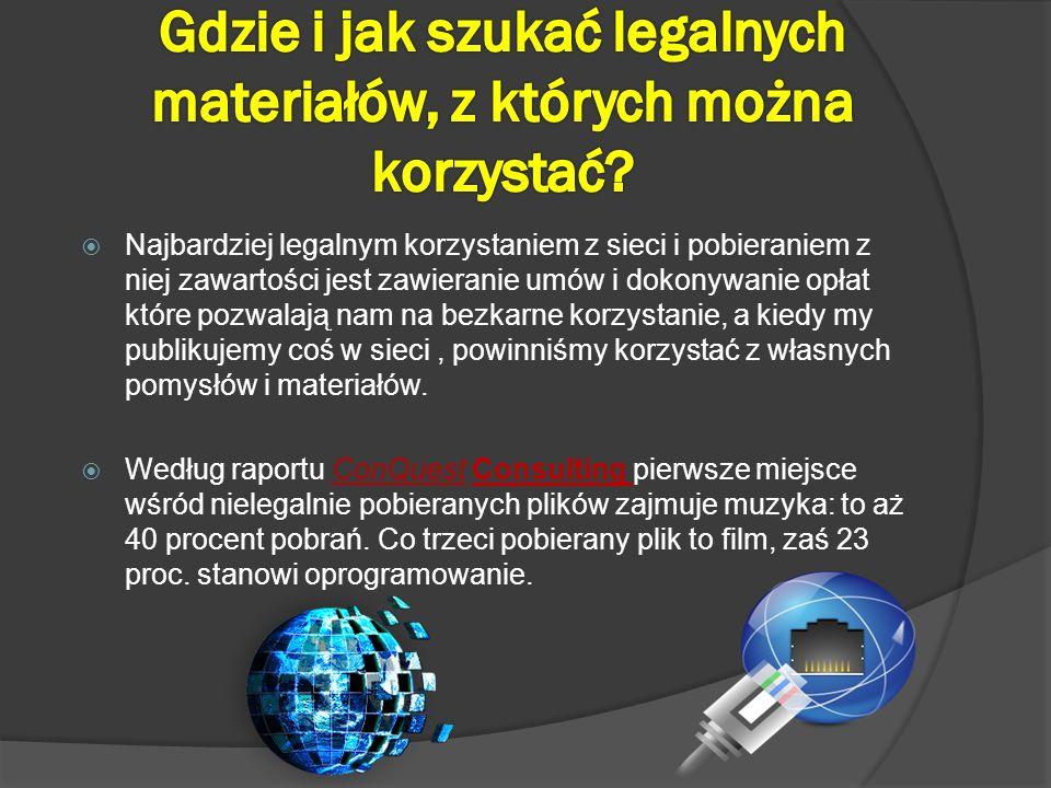 Gdzie i jak szukać legalnych materiałów, z których można korzystać