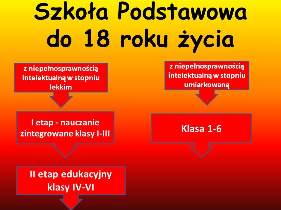Szkoła Podstawowa do 18 roku życia