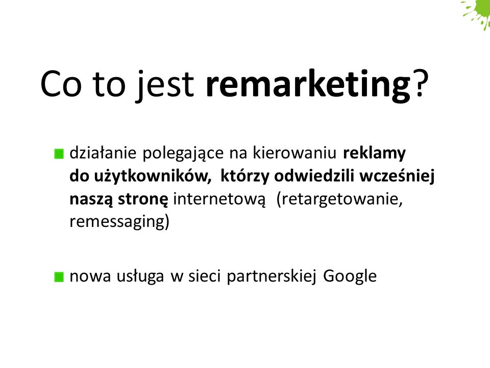 Co to jest remarketing