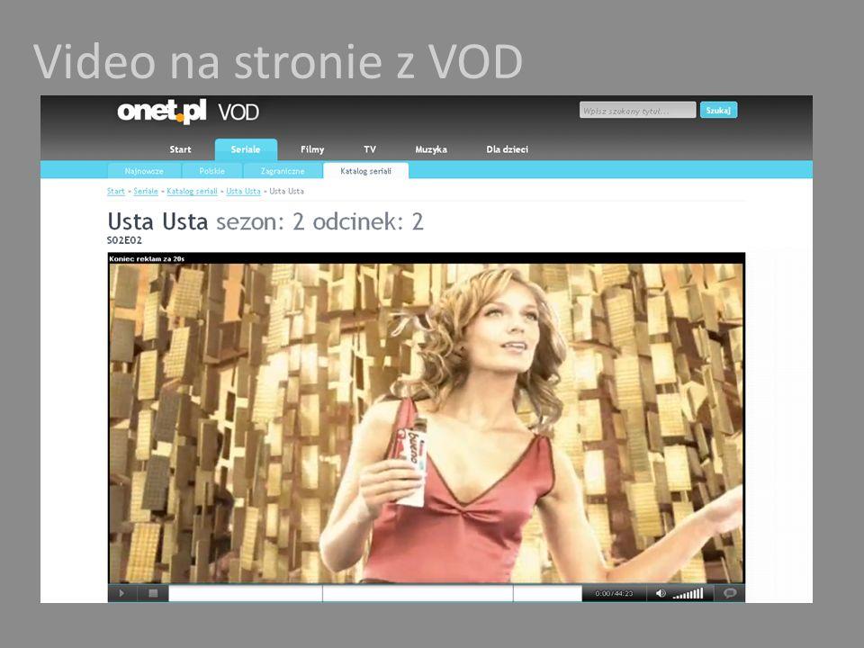 Video na stronie z VOD