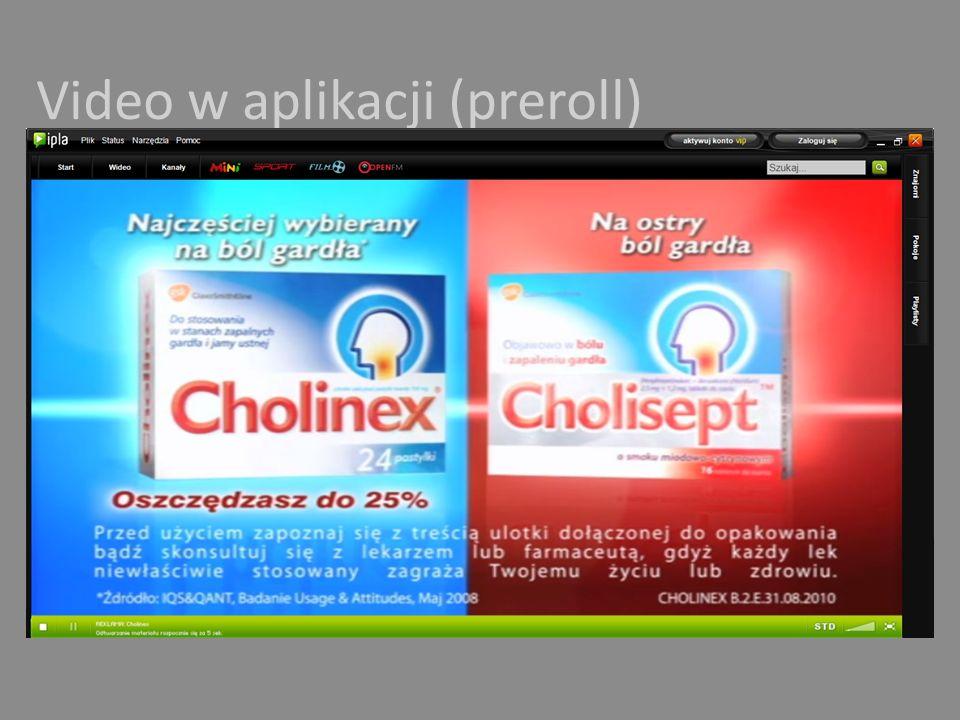 Video w aplikacji (preroll)