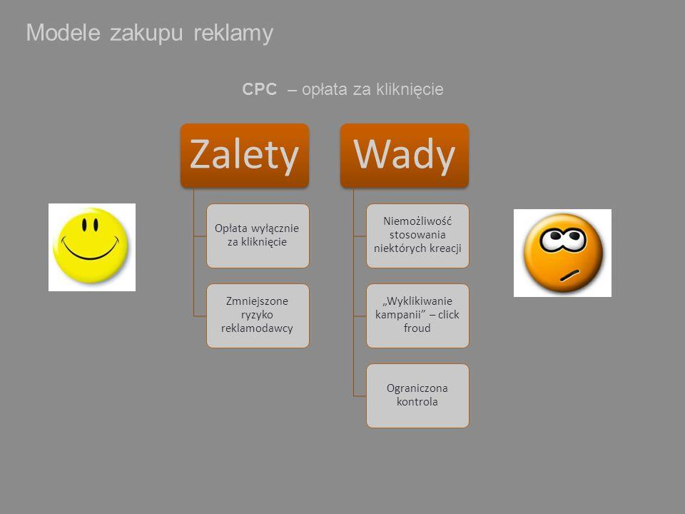 Modele zakupu reklamy CPC – opłata za kliknięcie Zalety