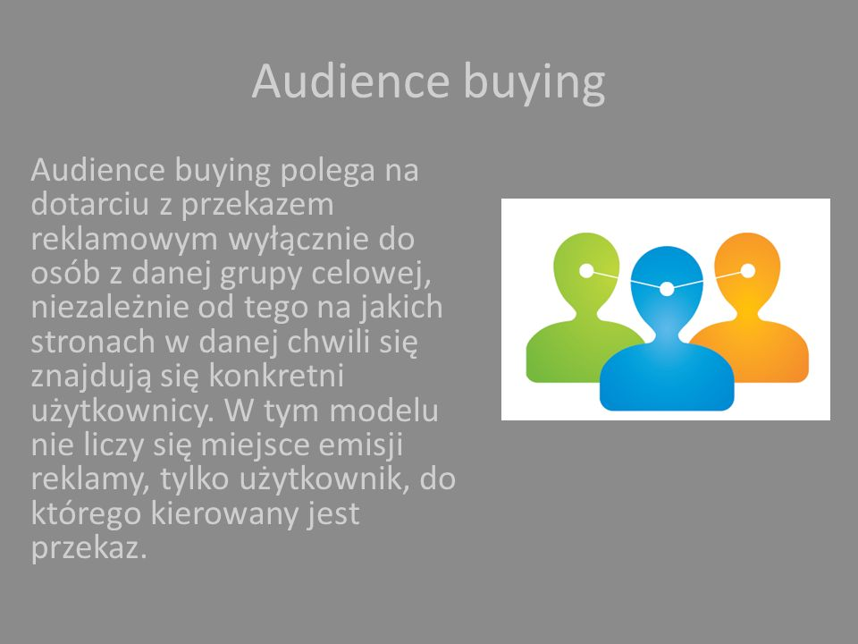 Audience buying