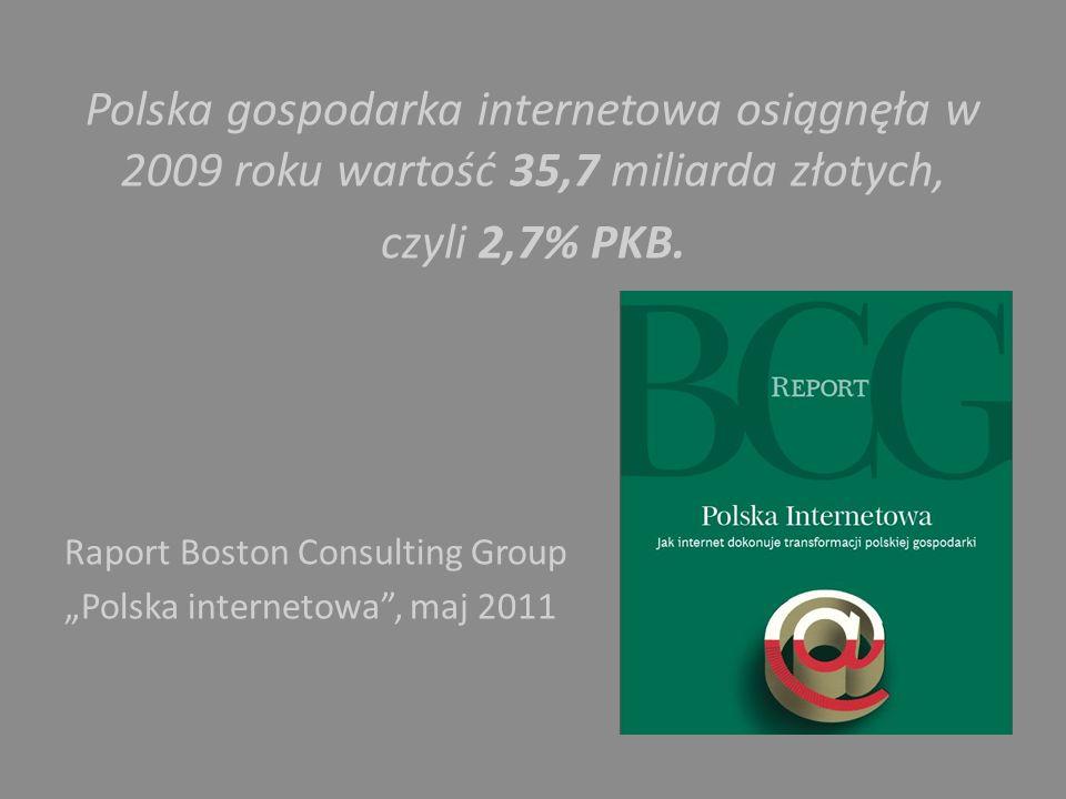 Polska gospodarka internetowa osiągnęła w 2009 roku wartość 35,7 miliarda złotych,