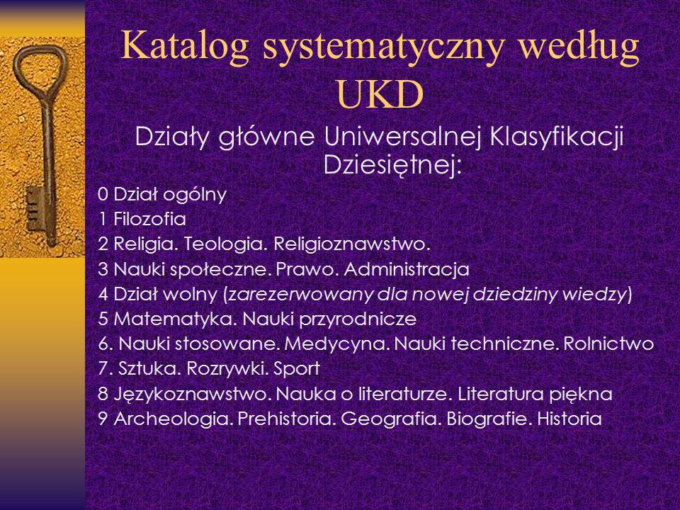 Katalog systematyczny według UKD