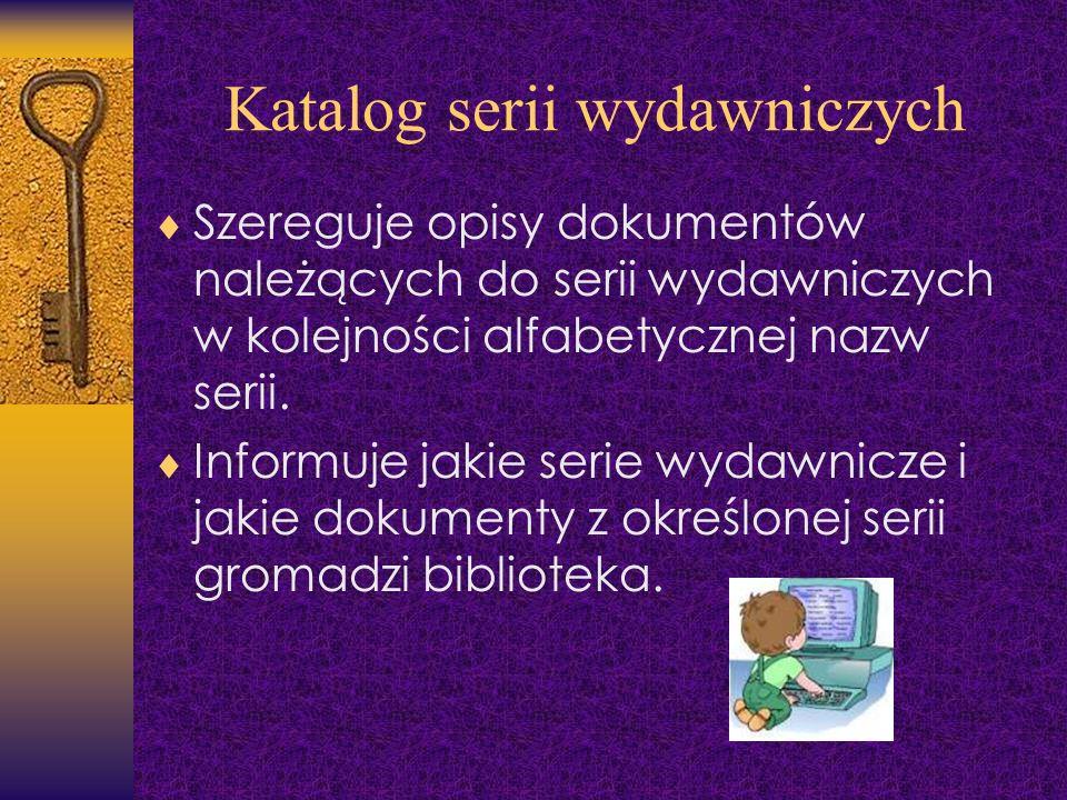 Katalog serii wydawniczych