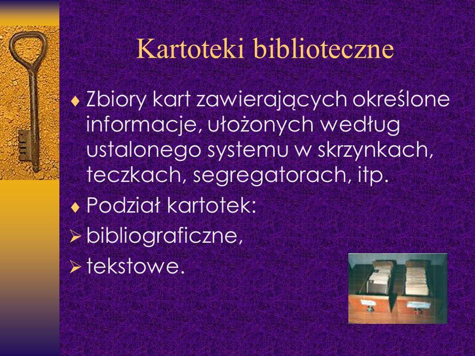 Kartoteki biblioteczne
