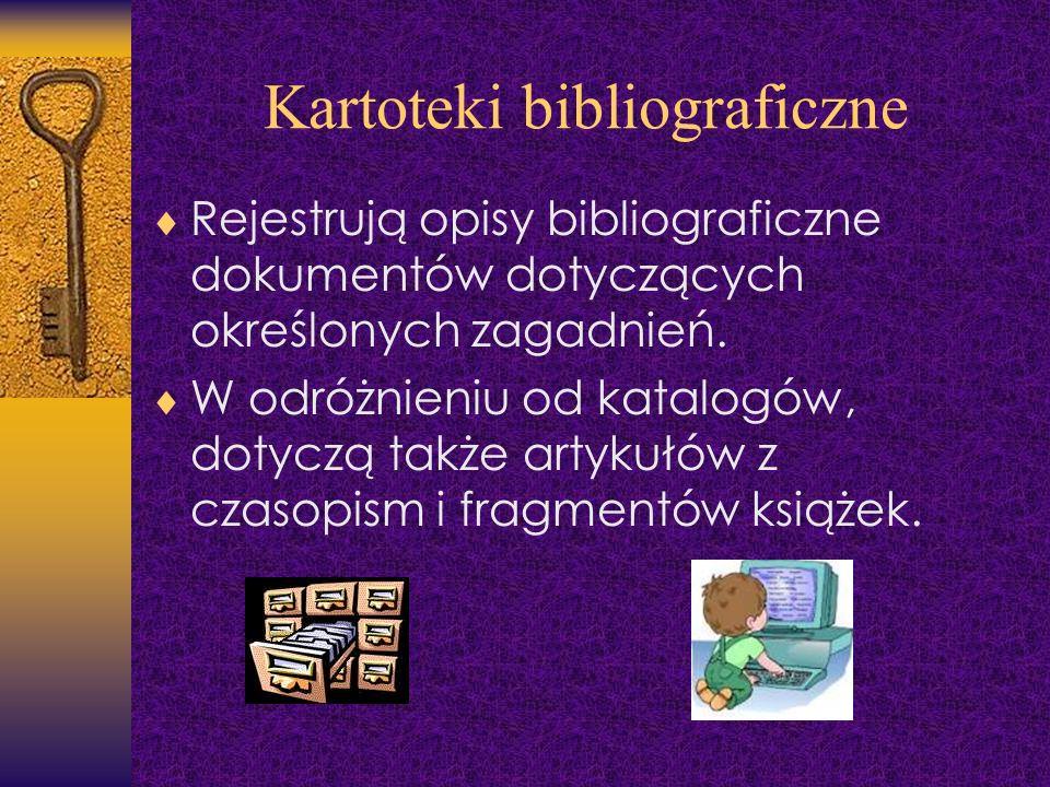Kartoteki bibliograficzne