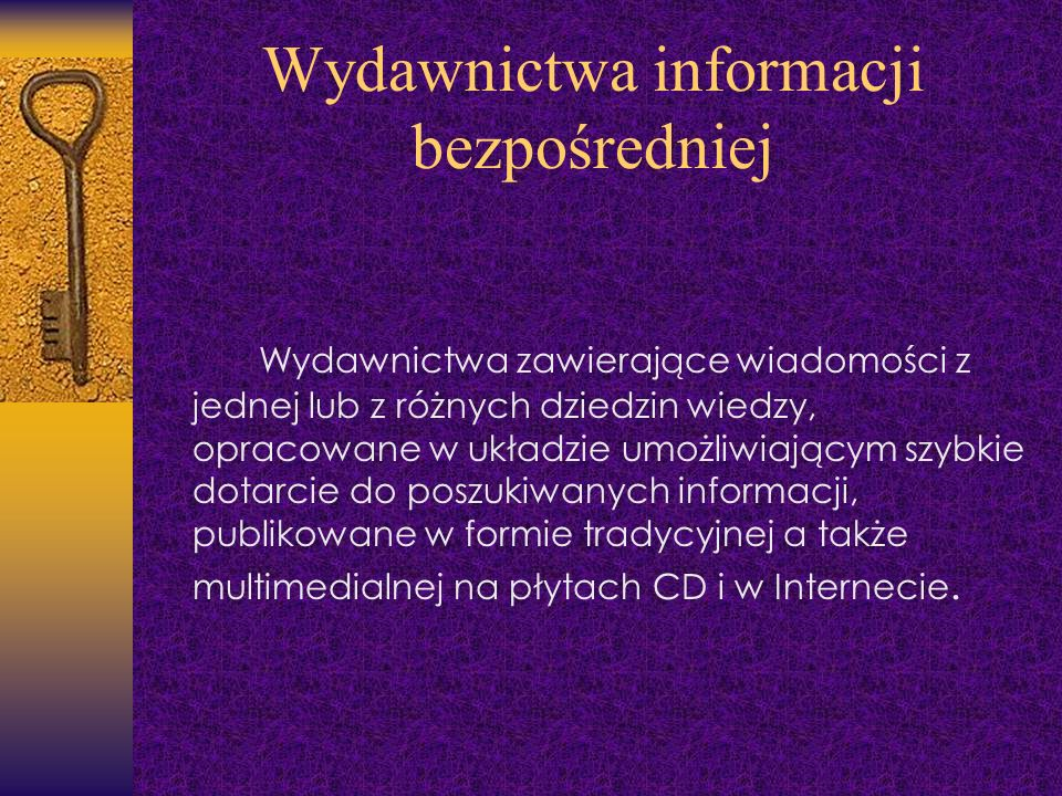 Wydawnictwa informacji bezpośredniej