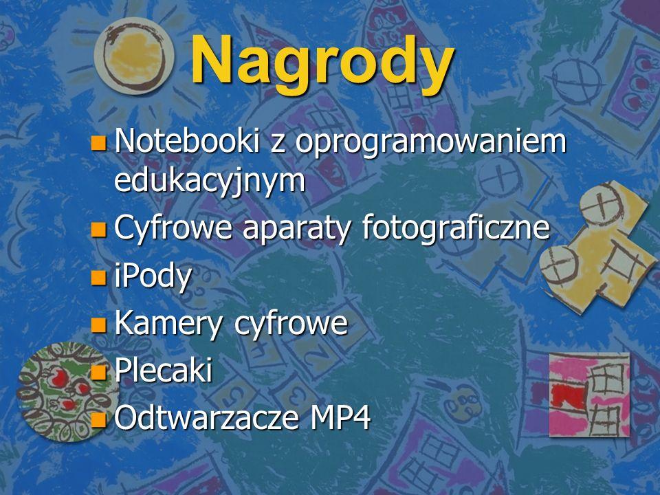 Nagrody Notebooki z oprogramowaniem edukacyjnym