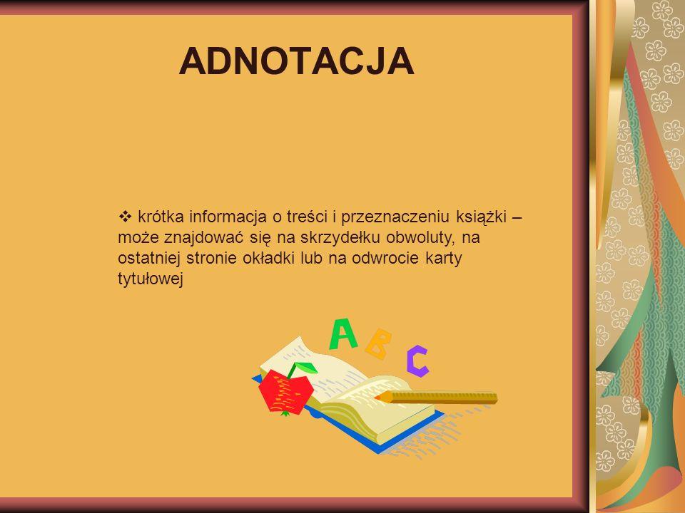 ADNOTACJA