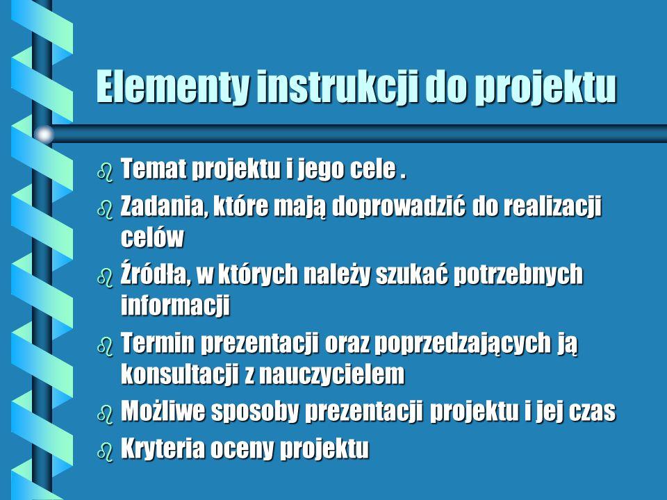 Elementy instrukcji do projektu
