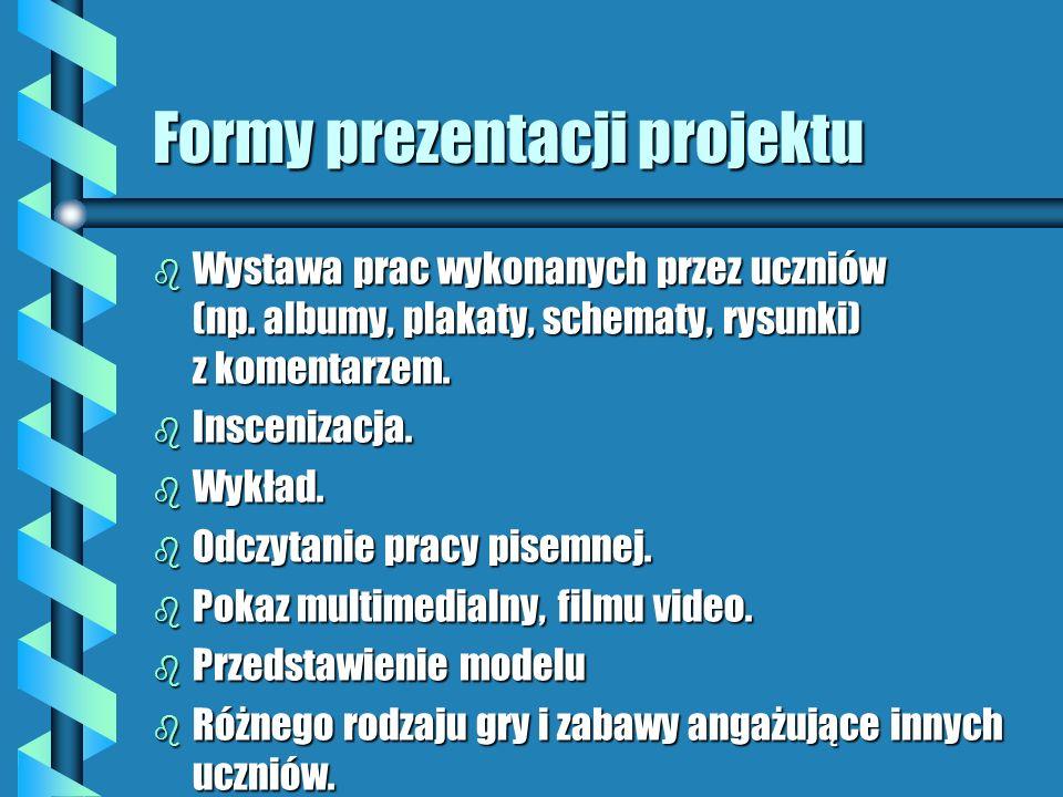 Formy prezentacji projektu
