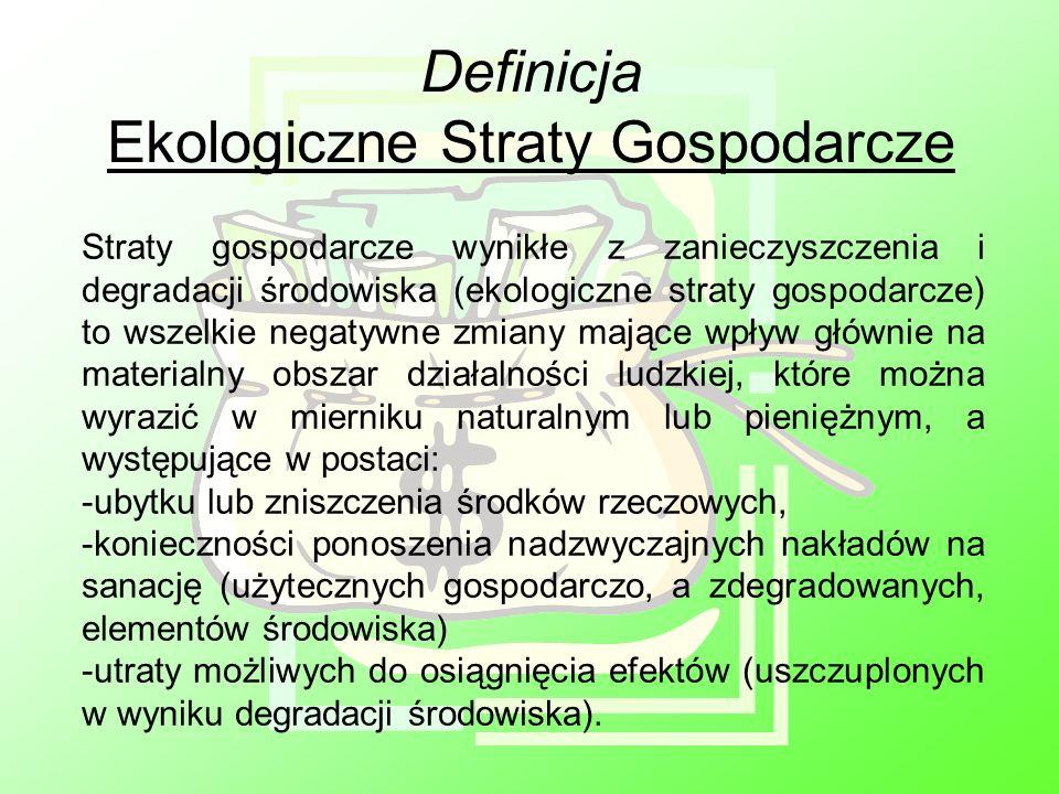 Definicja Ekologiczne Straty Gospodarcze