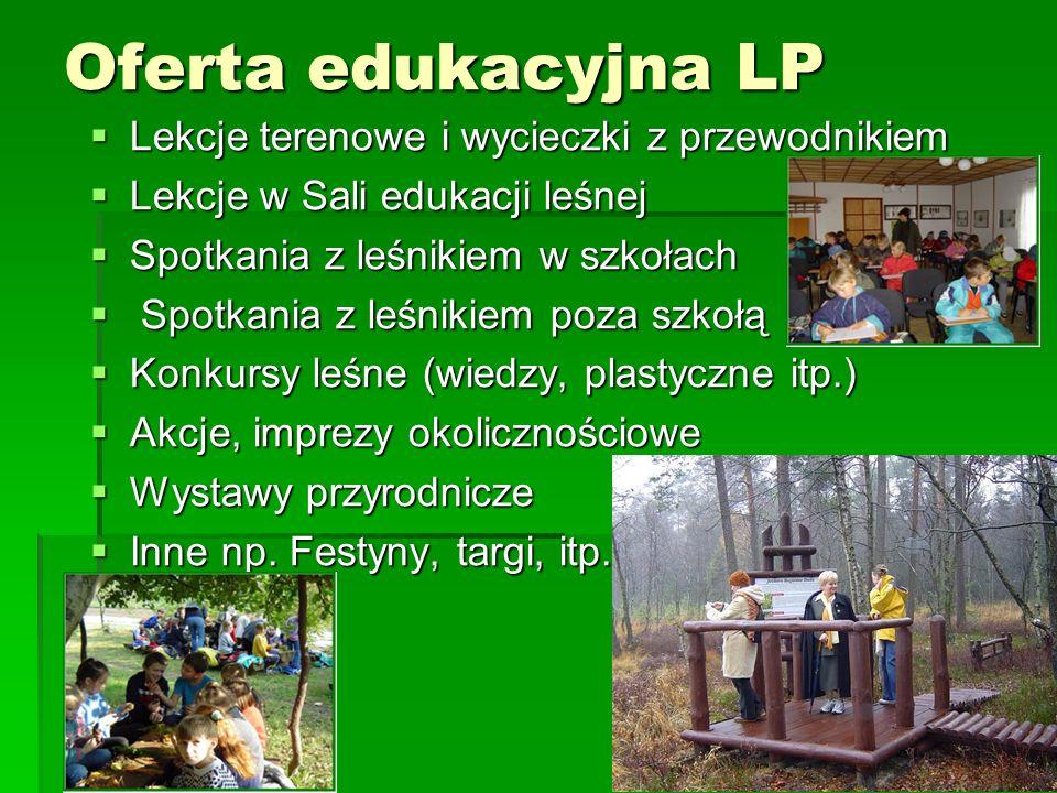 Oferta edukacyjna LP Lekcje terenowe i wycieczki z przewodnikiem