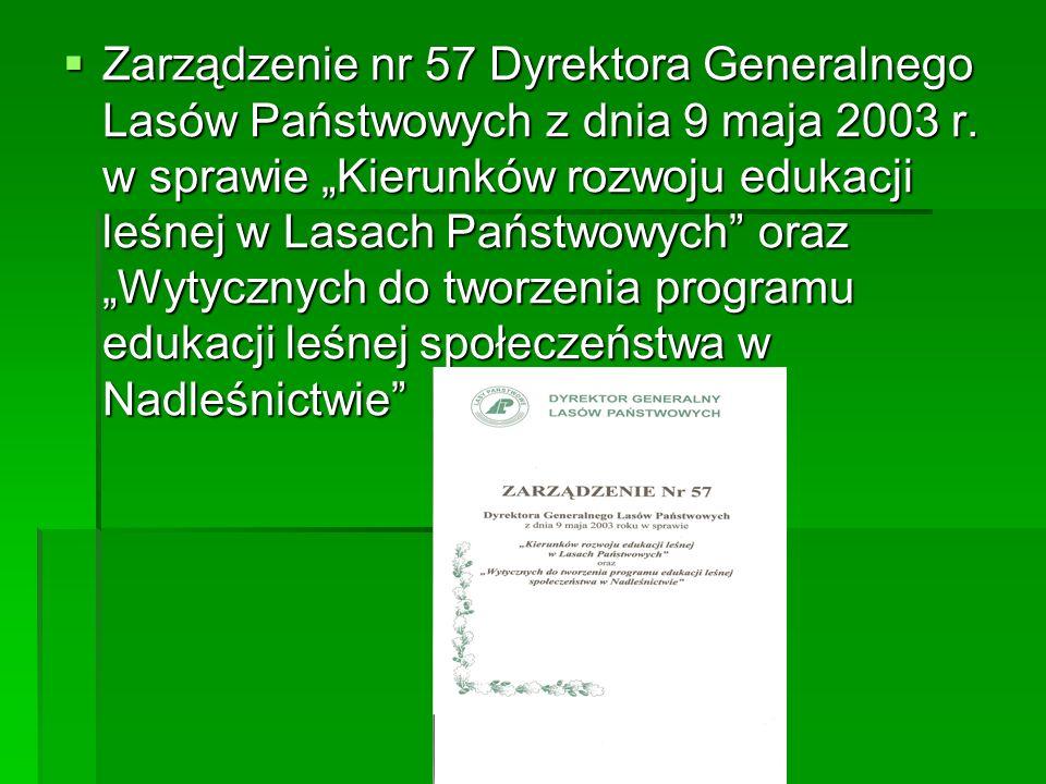 Zarządzenie nr 57 Dyrektora Generalnego Lasów Państwowych z dnia 9 maja 2003 r.