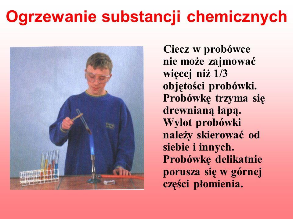 Ogrzewanie substancji chemicznych