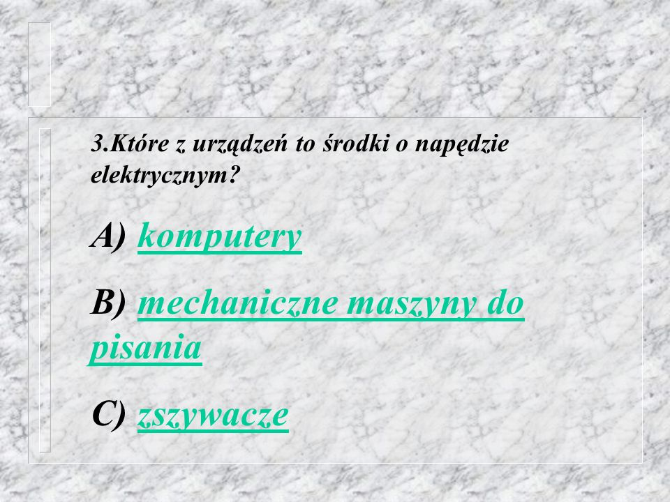 B) mechaniczne maszyny do pisania