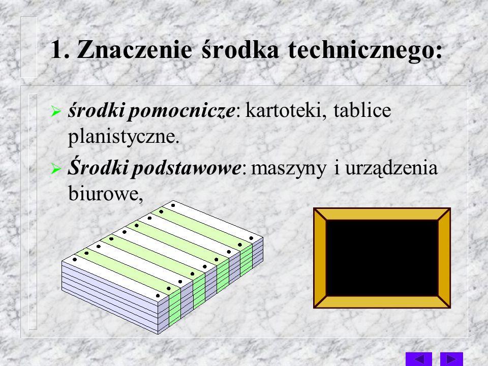1. Znaczenie środka technicznego: