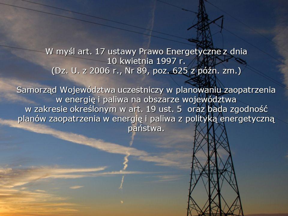 W myśl art. 17 ustawy Prawo Energetyczne z dnia 10 kwietnia 1997 r.