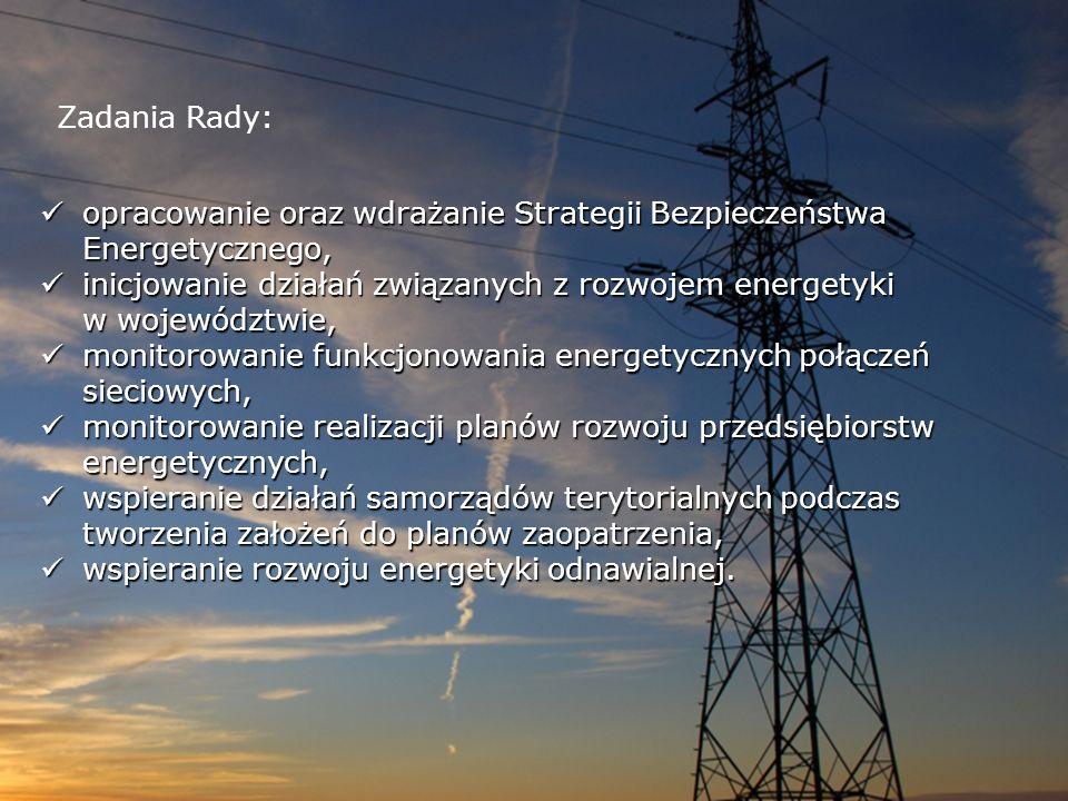 Zadania Rady: opracowanie oraz wdrażanie Strategii Bezpieczeństwa Energetycznego,