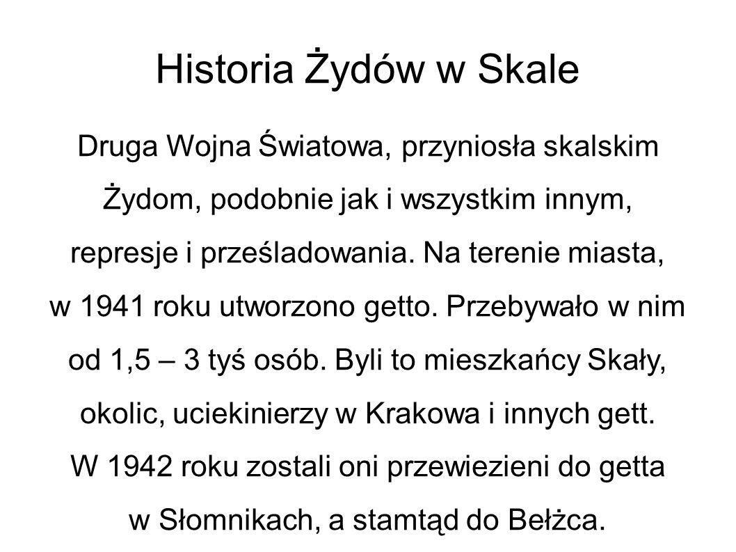 Historia Żydów w Skale
