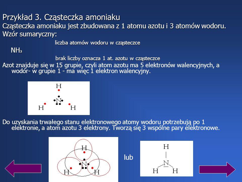 Przykład 3. Cząsteczka amoniaku