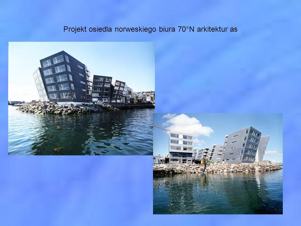 Projekt osiedla norweskiego biura 70°N arkitektur as