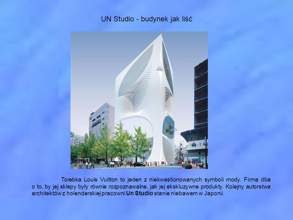 UN Studio - budynek jak liść
