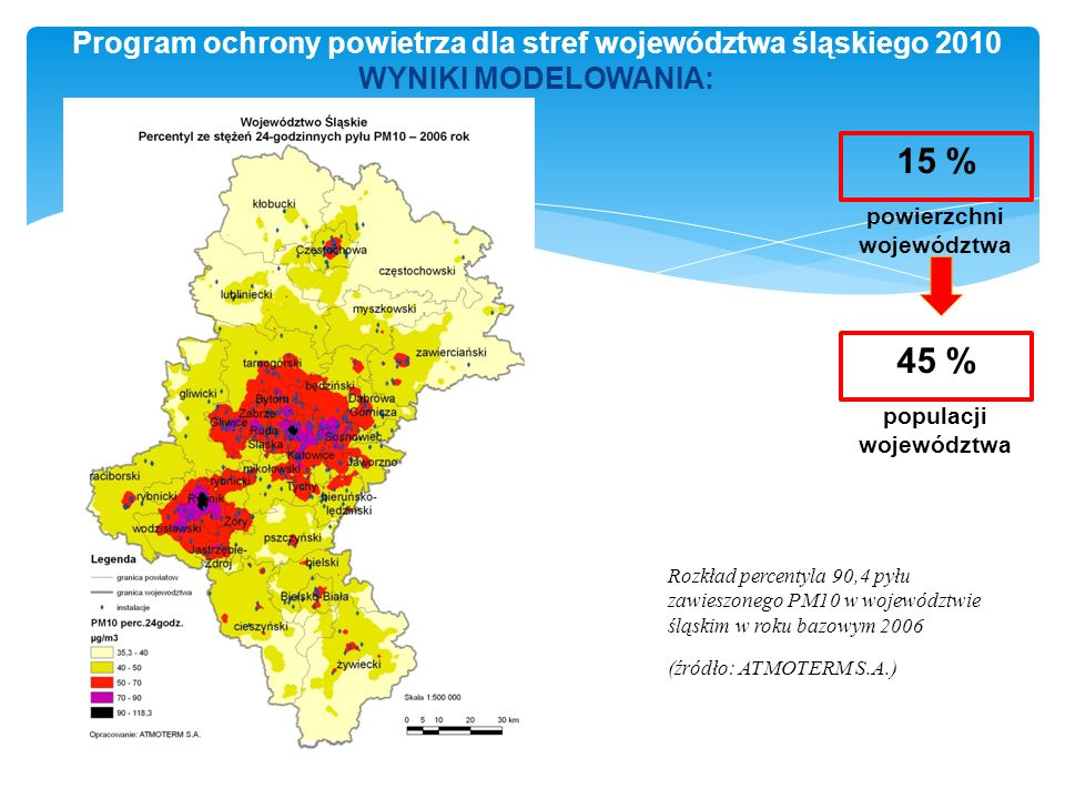 powierzchni województwa populacji województwa